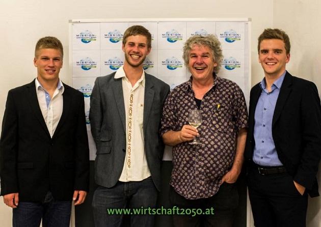 vlnr Jakob Stockinger, Raphael Kößl, Heini Staudinger, Jürgen Tatzreiter