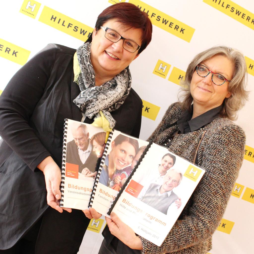 Hilfswerk-Präsidentin Michaela Hinterholzer und Leiterin der Familien und Beratungszentren Elke Fuchs Foto: Privat