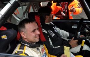 Beifahrer Andre Kachel und Max Zellhofer am Steuer Foto: Harald Illmer