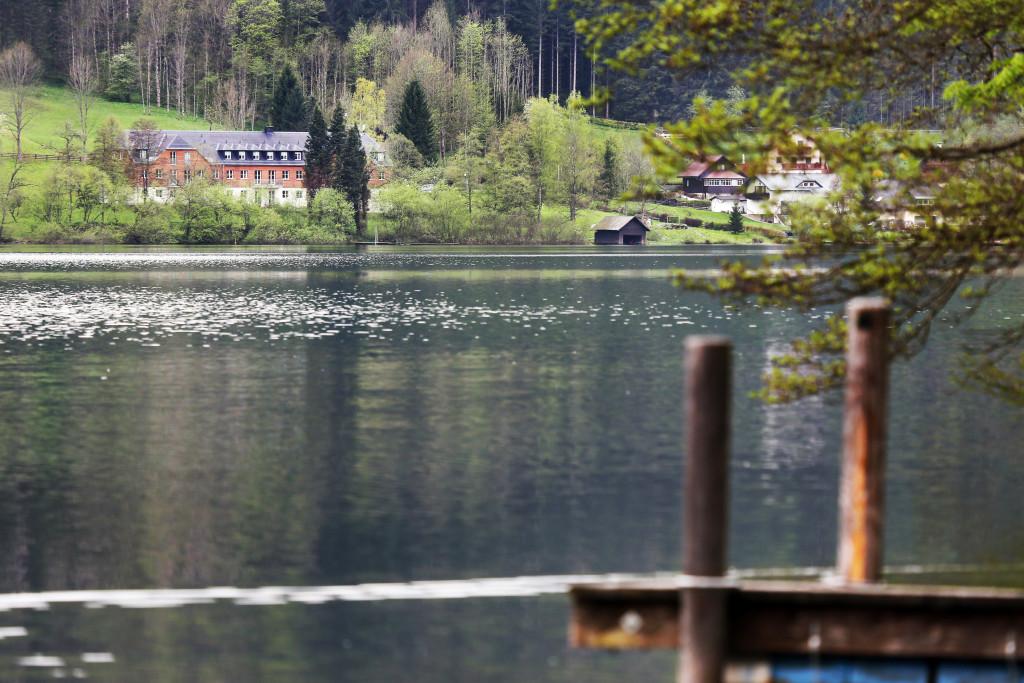 Außenansicht des WasserClusters Lunz Foto: weinfranz