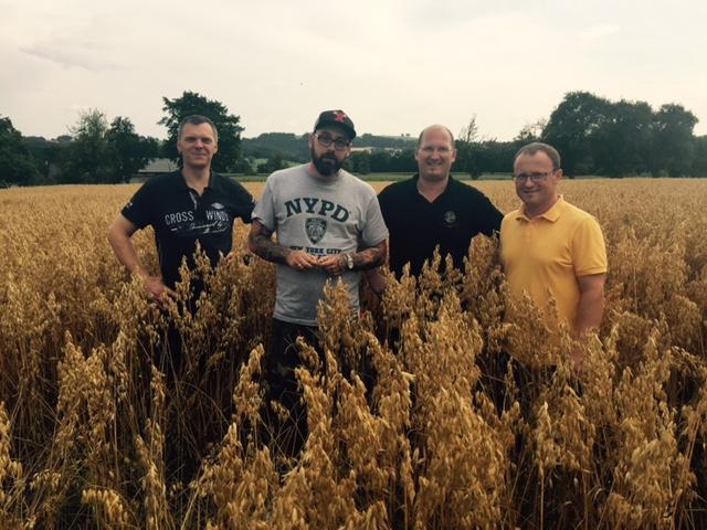 Getreidebauer Johann Rosenfellner-Haberfellner, Rapper Sido, Brenner Josef Farthofer und Getreidebauer Martin Strohmayr