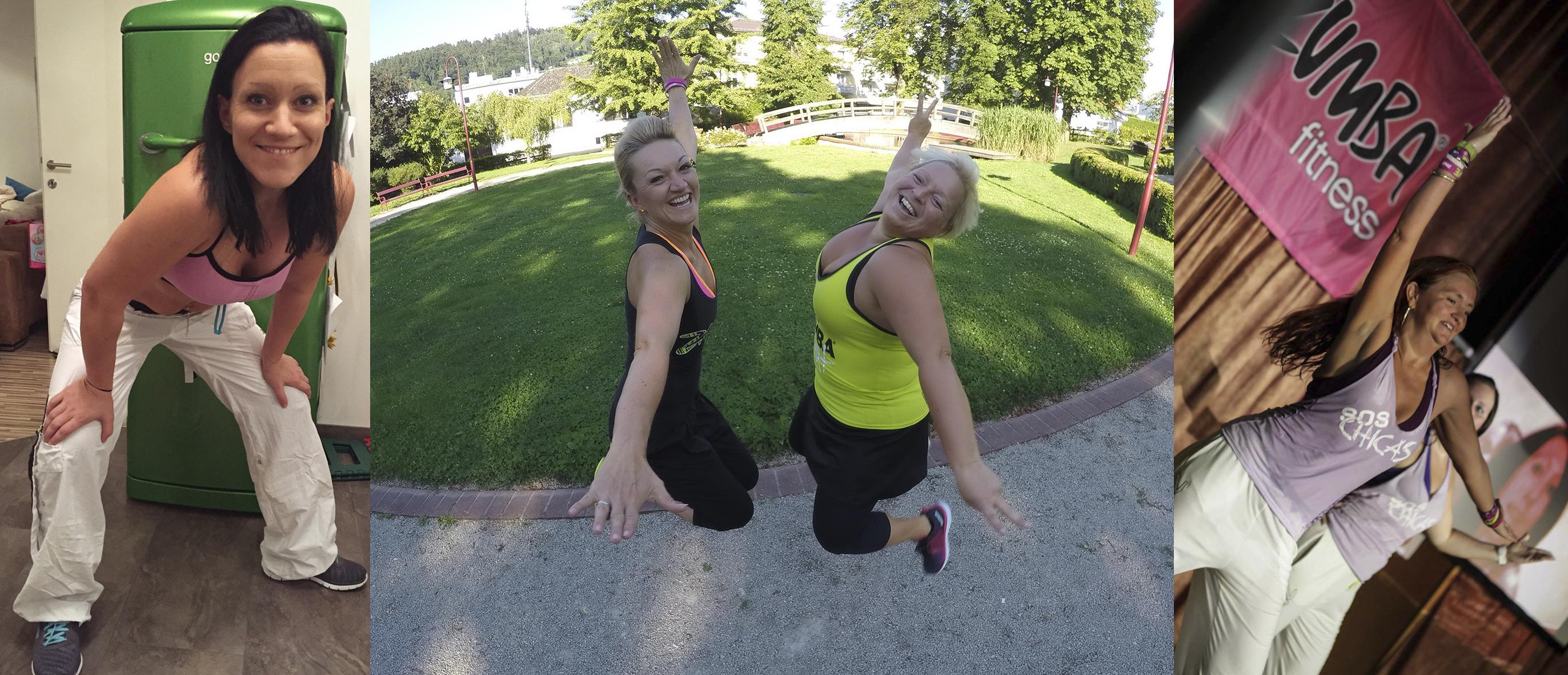 Verein Tanz Dich Fit - Berni & Sandra Zumba Fitness von Waidhofen an der Ybbs und die ZUMBA-Trainerinnen aus der Region Christina Zöchbauer (Zeillern), Sissi Lukaschek (Gleiss)
