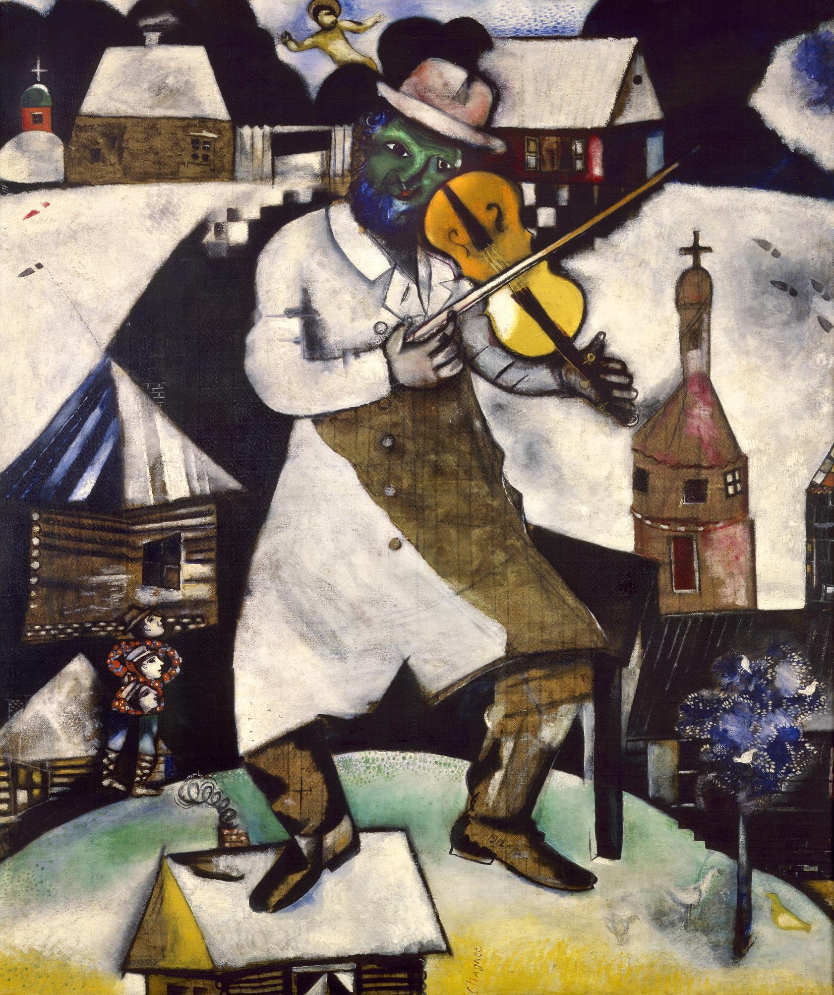 Marc Chagall: Der Geigenspieler, 1912 Foto: bildrecht, wien   2016