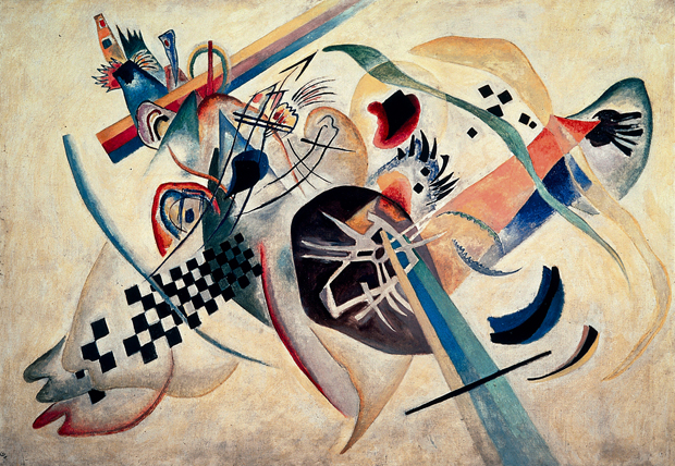 Kandinsky, Wassily (1866-1944): On White, 1920. St. Petersburg, Russian State Museum*** Permission for usage must be provided in writing from Scala. May have restrictions - please contact Scala for details. ***