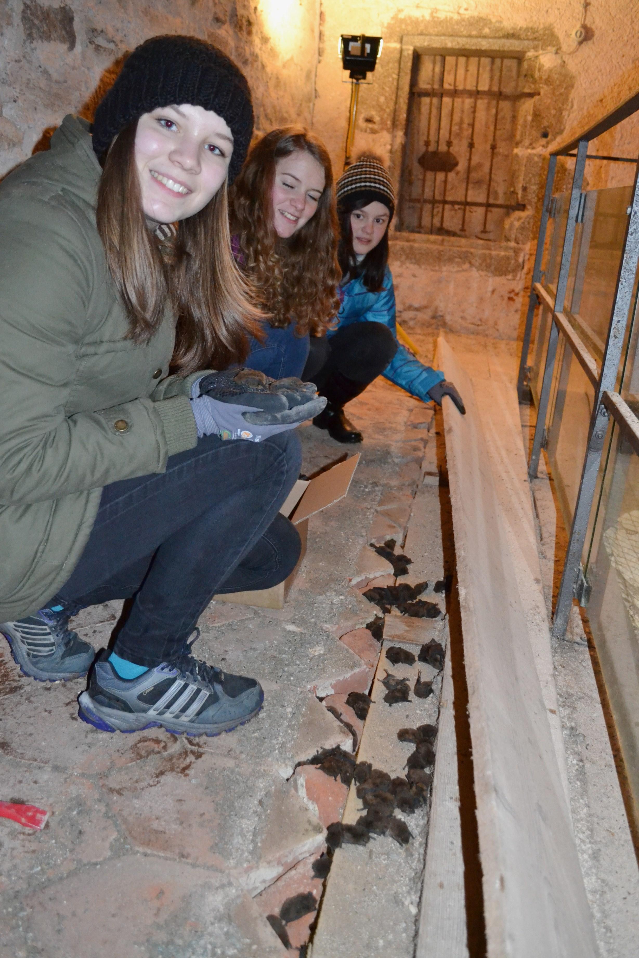 Sarah Pichler, Nina Moser und Isabella Schweiger bei der Rettung Foto: HLUW Yspertal