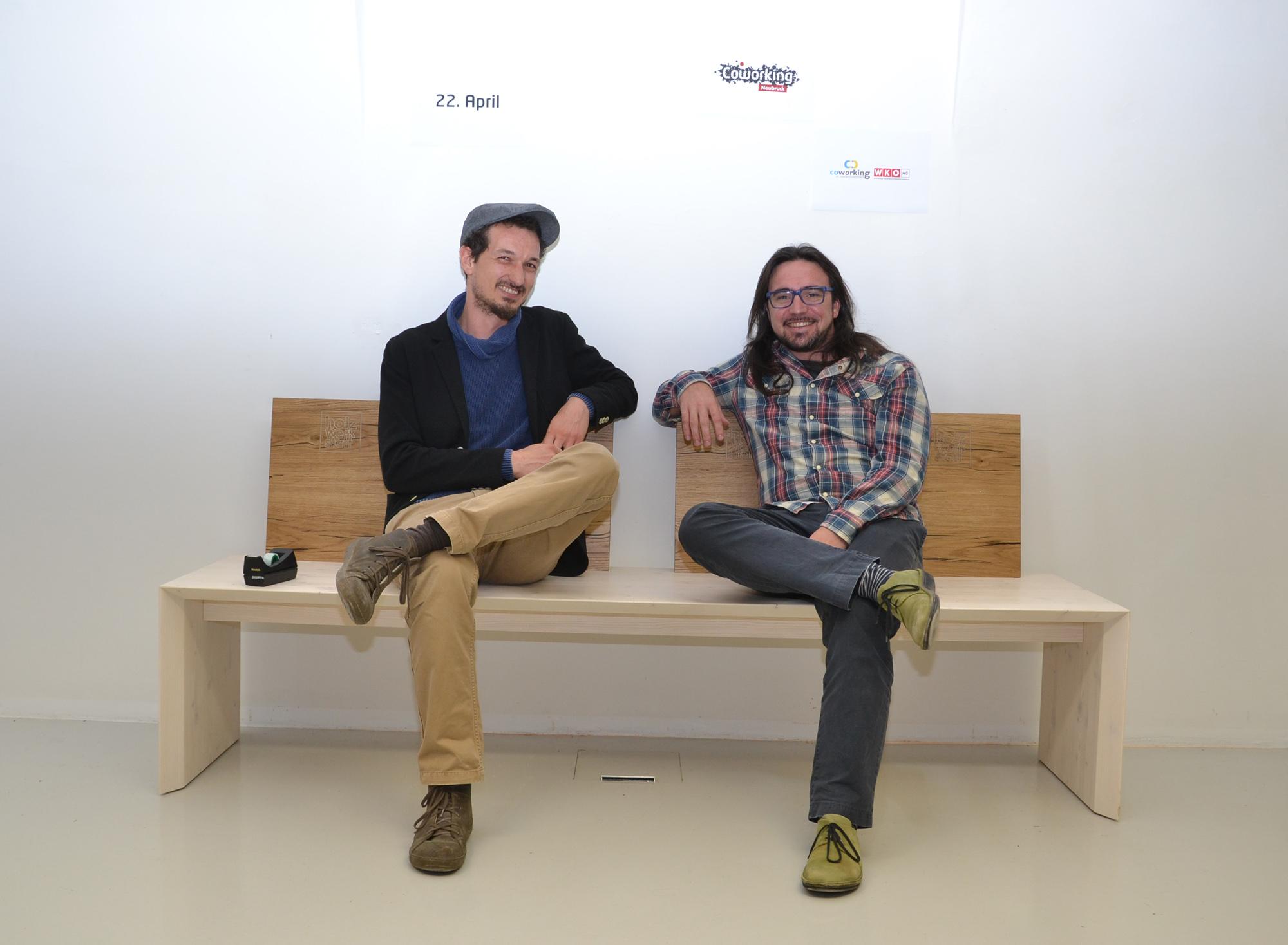 Coworker Joseph Hofmarcher und Peter Teufel Foto: eisenstrasse.info