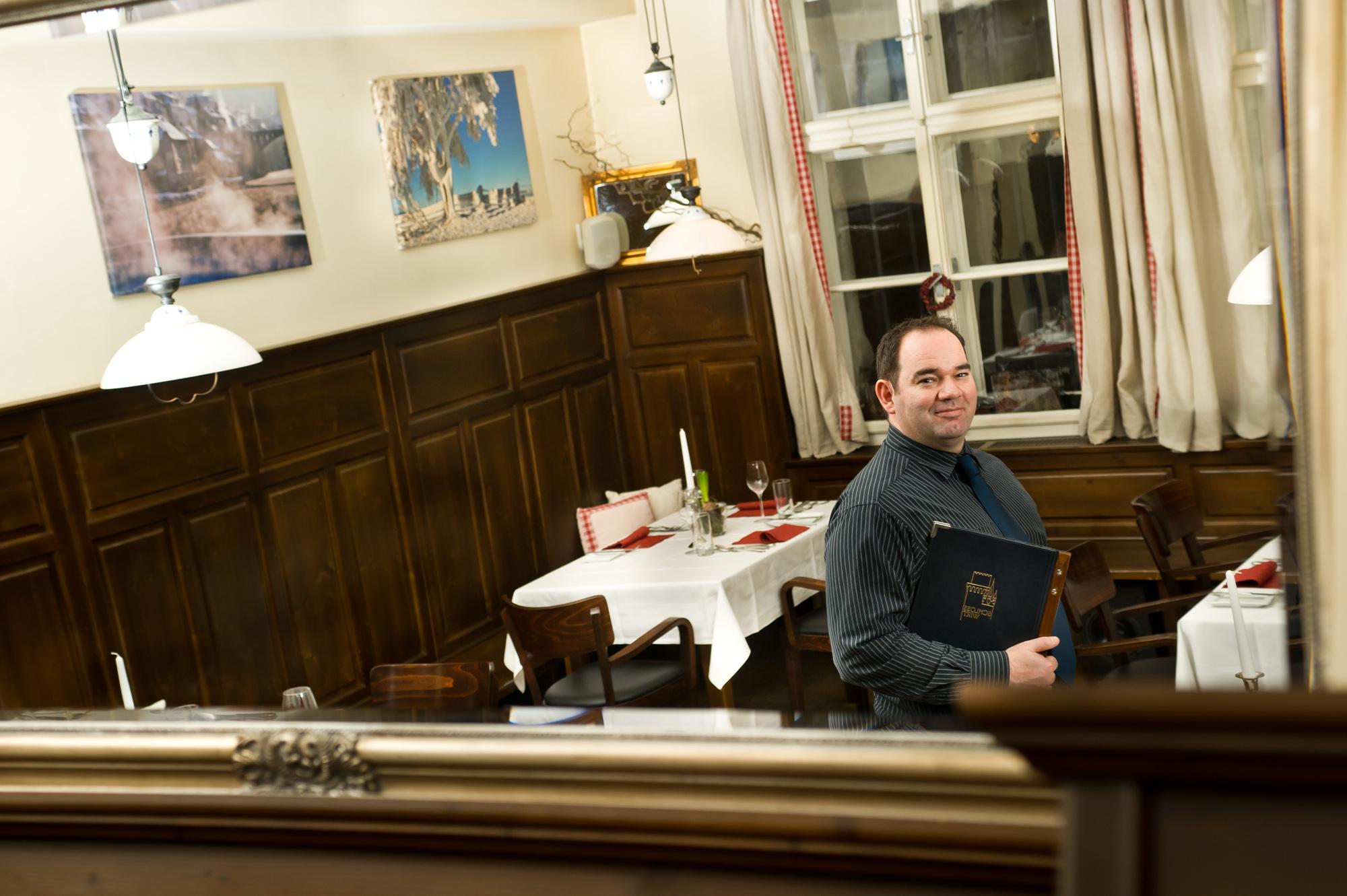 Schlosswirt Andreas Plappert Foto: Rita Newman