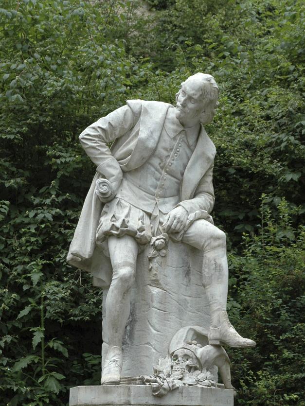Shakespeare-Denkmal im Park an der Ilm in Waimar Foto:Michak