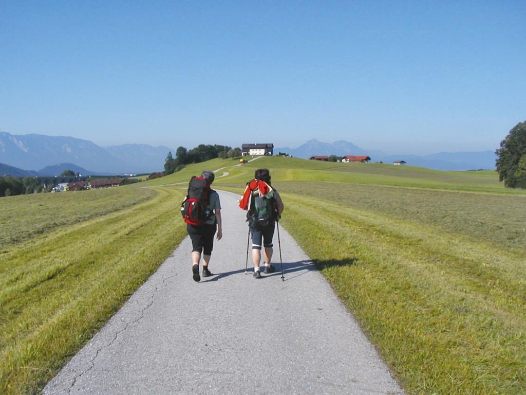Das Gehen durch die Landschaft entspannt nicht nur, es sorgt für innere Einkehr und Reflexion. Foto: Privat