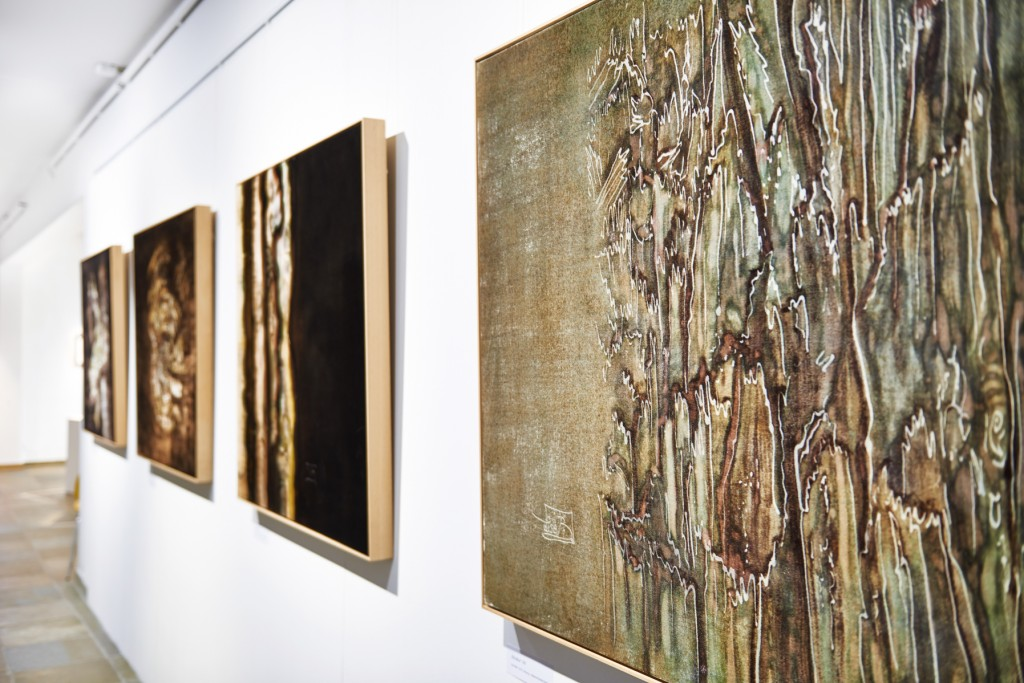 "Lisa Bäck, ""Bilderzyklus Struktur"" Foto: Lisa Bäck / NÖ Tage der offenen Ateliers 2016"