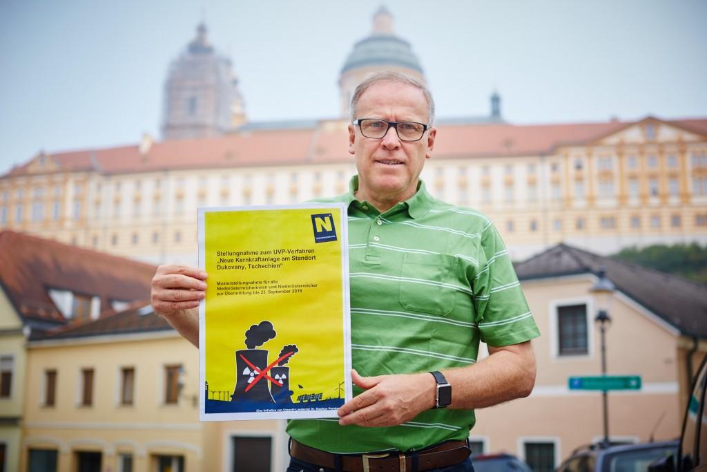 Bürgermeister Thomas Widrich lehnt den Ausbau des tschechischen Atomkraftwerks Dukovany ab. Foto: Stadt Melk/Gleiß