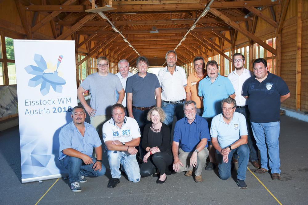 Fototext:Das Organisationskomitee der Eisstock-WM 2018 Foto: matan-Fotografie