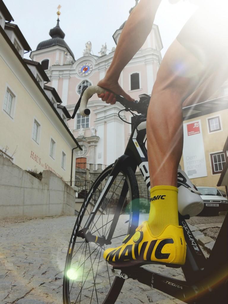 245 Mal will Steff Wagner die auf den Sonntagberg führende Strecke hinaufradeln, um den 48-Stunden-Weltrekord in Angriff zu nehmen. Foto: Steff Wagner Ultracycling